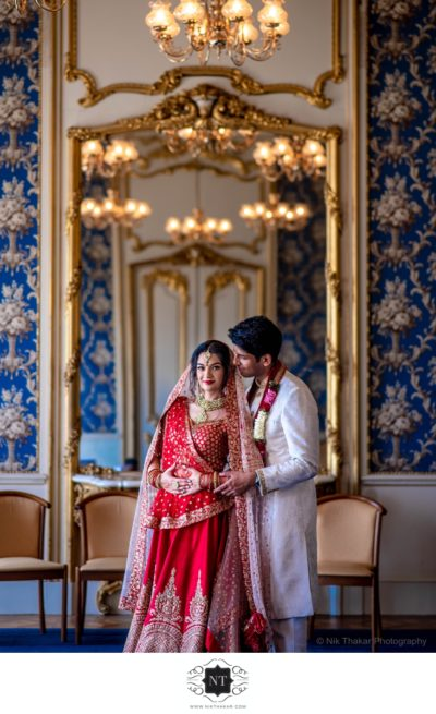 Indian wedding reception at luxurious Wrest Park